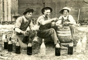 old time brewing scene