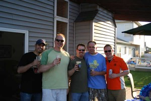 American craft beer lovers: Ed, me, Shawn, Mark, and Jon