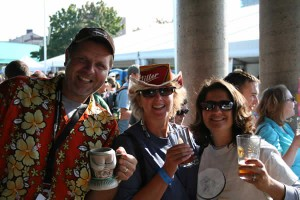 A couple of people Sue stopped to talk with at Great Lakes Brew Fest.