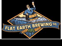 flat earth brewing company logo