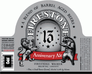 firestone walker brewing company 13 anniversary ale